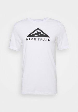 TEE TRAIL - T-shirt med print - white