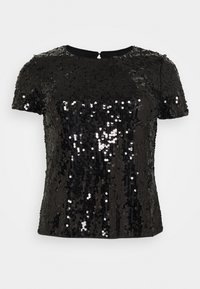 CAPSULE by Simply Be - VALUE SEQUIN  - Print T-shirt - black - 0