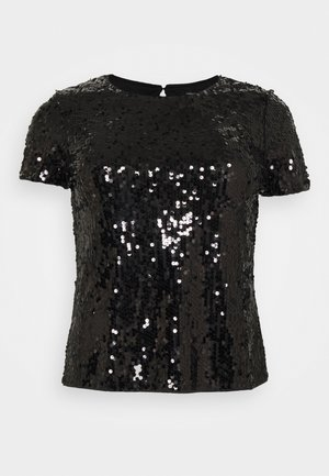 VALUE SEQUIN  - Print T-shirt - black