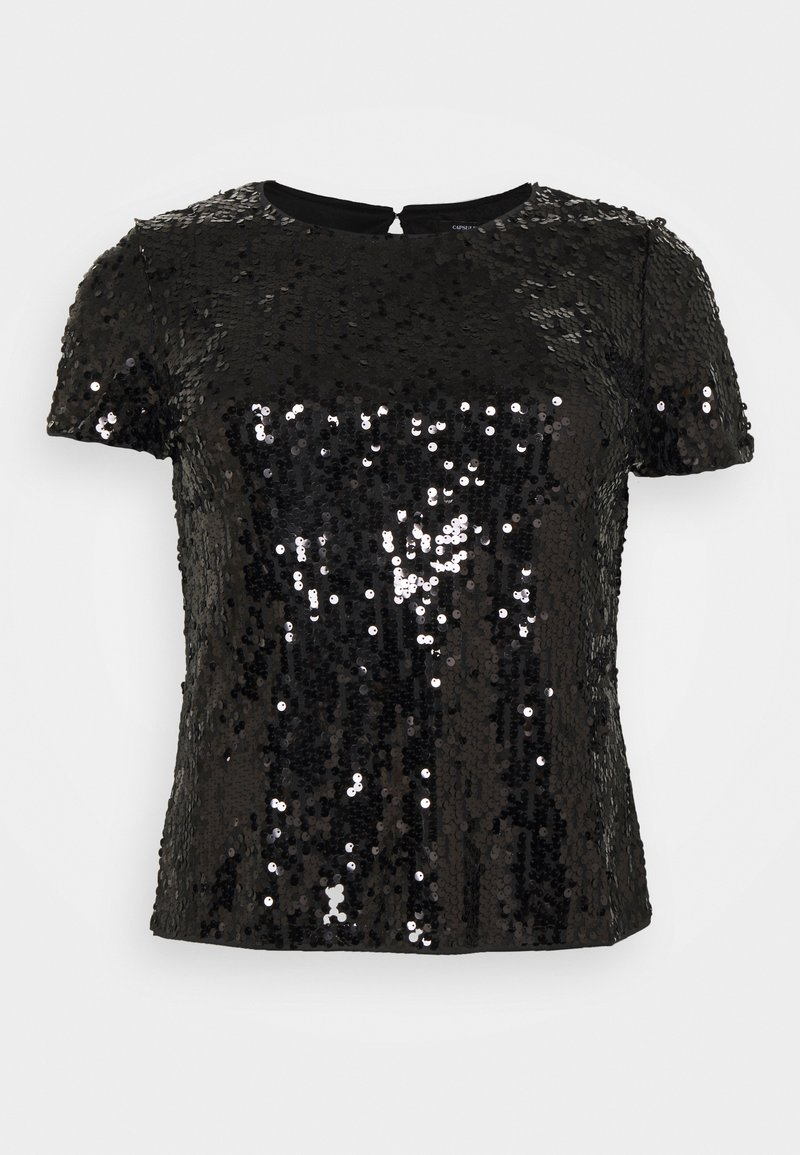 CAPSULE by Simply Be - VALUE SEQUIN  - Print T-shirt - black