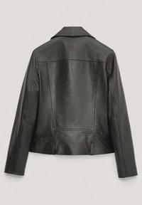 Massimo Dutti - Veste en cuir - black - 6