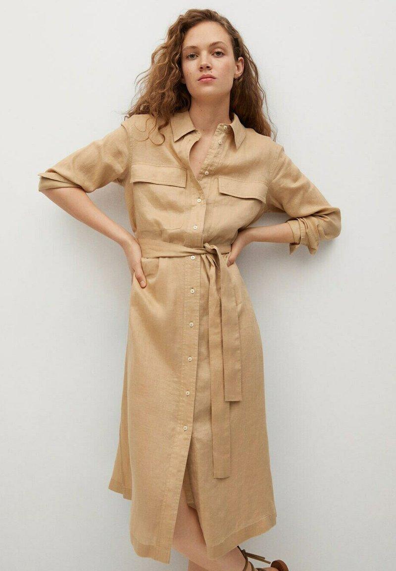 Mango - Shirt dress - beige
