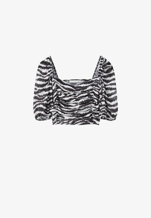 Blouse - mottled black