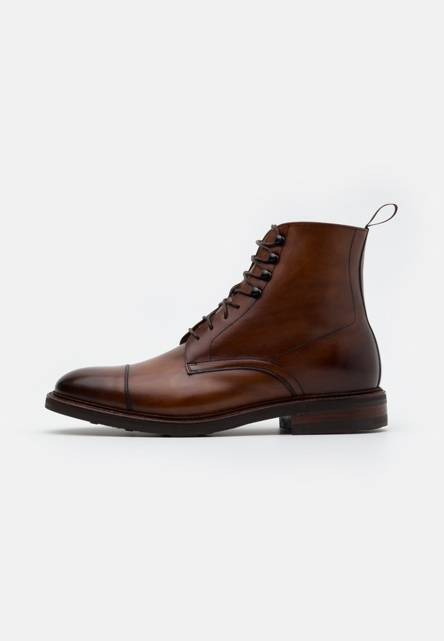 DAVID - Lace-up ankle boots - elba castagna