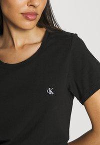 Calvin Klein Underwear - CK ONE CREW NECK 2 PACK - Maglia del pigiama - black - 5