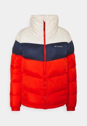 PUFFECT™ COLOR BLOCKED JACKET - Zimní bunda - bold orange/nocturnal/chalk