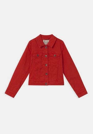 TRUCKER  - Denim jacket - fiery red