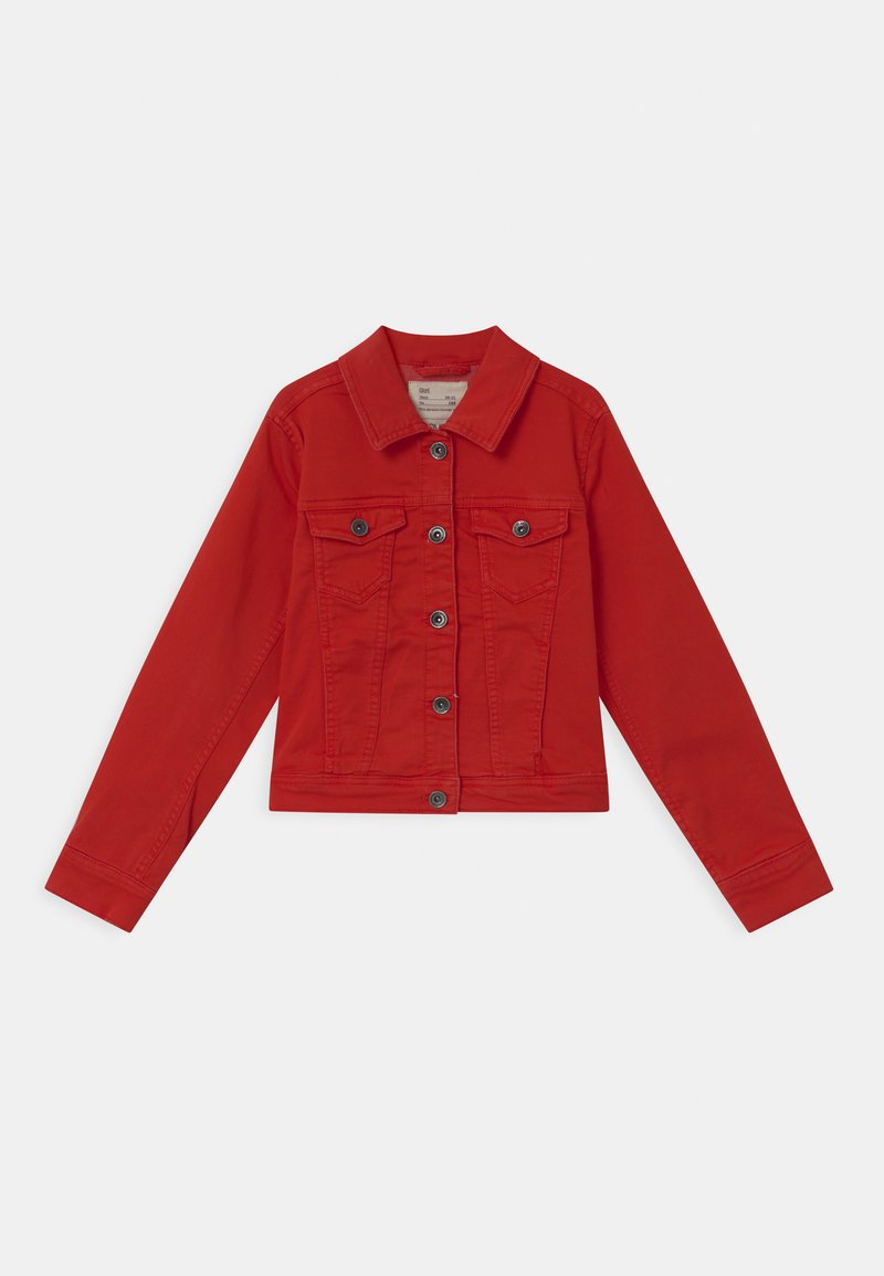 OVS - TRUCKER  - Denim jacket - fiery red