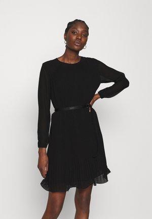 PLISSE DRESS - Day dress - ck black