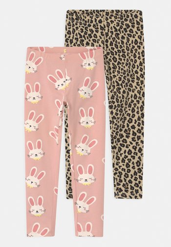 MINI 2 PACK - Leggings - Trousers - light dusty pink