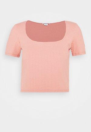 T-shirt basic - rust/pink