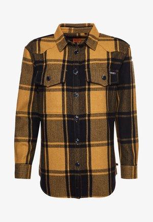CHECK - Button-down blouse - gold  coloured