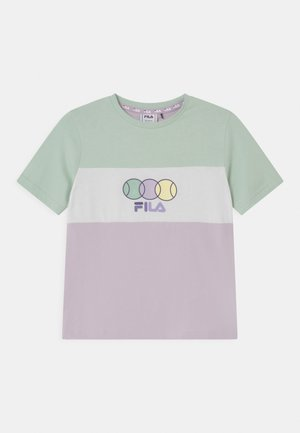 PEBBELS BLOCKED UNISEX - T-shirts print - orchid petal/silt green/snow white