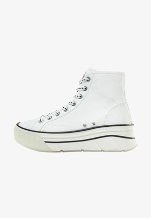 MIT PLATEAU - High-top trainers - white