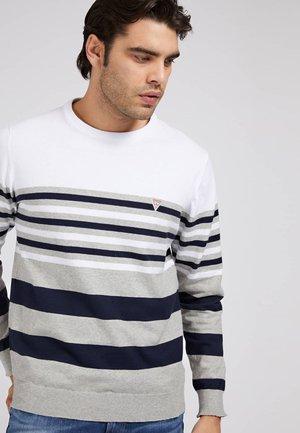 Sweatshirt - mehrfarbig, weiß