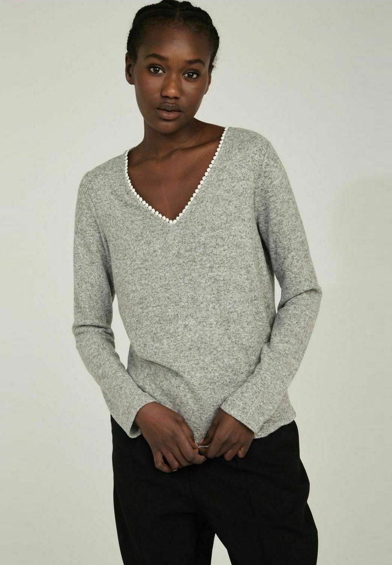 NAF NAF - Long sleeved top - grey