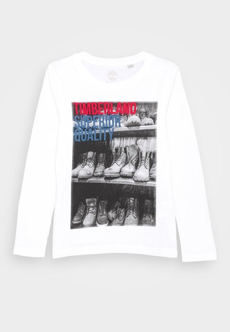 Timberland - LONG SLEEVE  - Top sdlouhým rukávem - white