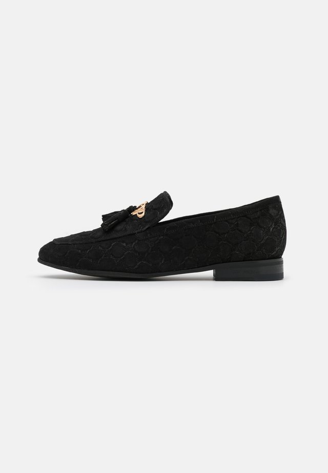 VELLUTO STAMPA FILIPPA SLIP ON - Slip-ins - black