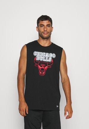 NBA CHICAGO BULLS NEON SLEEVELESS TEE - Squadra - black