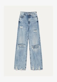 Bershka - MIT RISSEN - Flared Jeans - blue denim - 4