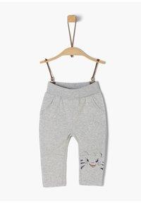 s.Oliver - MIT TIGER-ARTWORK - Trousers - grey melange - 1
