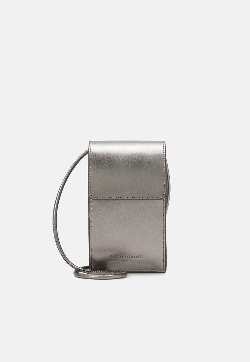 Liebeskind Berlin - MOBILE POUCH - Across body bag - warm metallic grey