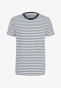 navy white thin stripe