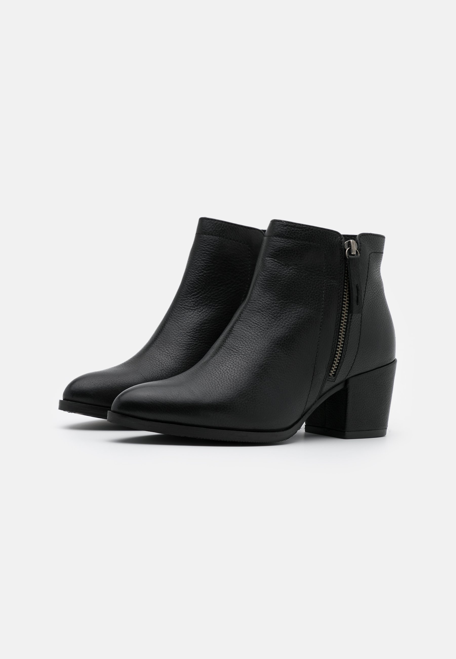 Anna Field LEATHER Ankle Boot black/schwarz