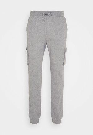UNISEX - Tracksuit bottoms - mottled light grey