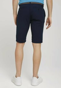 TOM TAILOR - Shorts - navy squared structure - 2