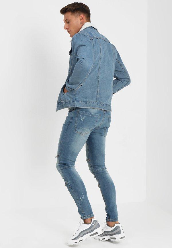Brave Soul MJK-LARSON - Kurtka jeansowa - blue denim/jasnoniebieski Odzież Męska HAEE