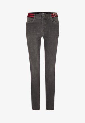 MIT ELASTISCHEM BUND - Jeans Skinny Fit - grau