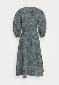 Proenza Schouler White Label - EXAGGERATED SLEEVE FITTED DRESS - Denní šaty - steel blue/black - 6