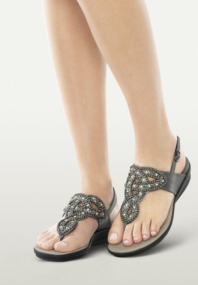 MIT RIEMEN MARILLIE - T-bar sandals - metallo