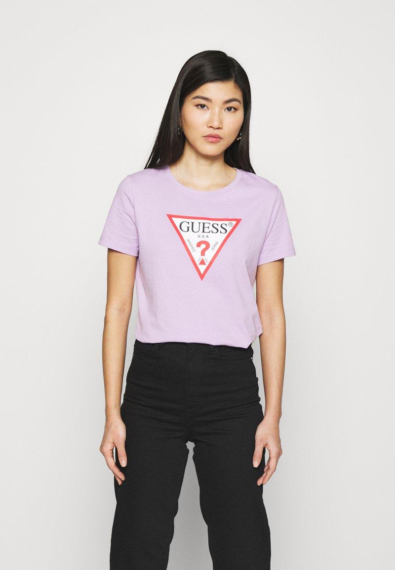 Guess - ORIGINAL - Print T-shirt - lilac forever