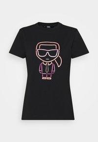 KARL LAGERFELD - IKONIK OUTLINE - T-Shirt print - black - 4