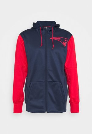 NFL NEW ENGLAND PATRIOTS LEFT CHEST MASCOT FULL ZIP - Klubtrøjer - college navy/ university red