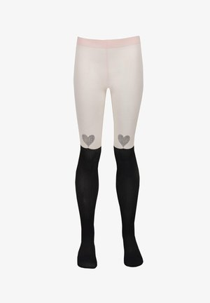 Tights - longuette cuore strass rosa