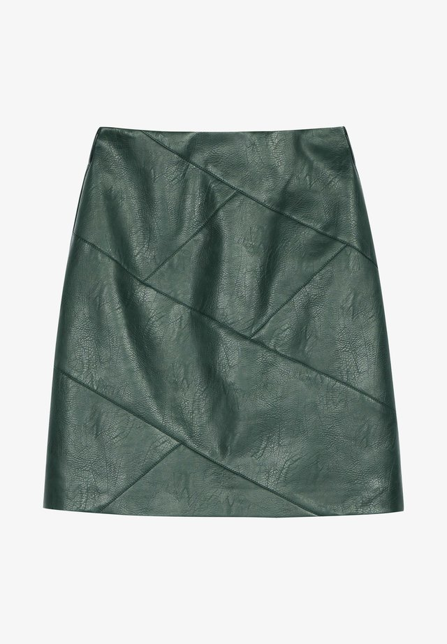 A-line skirt - dark blackish green