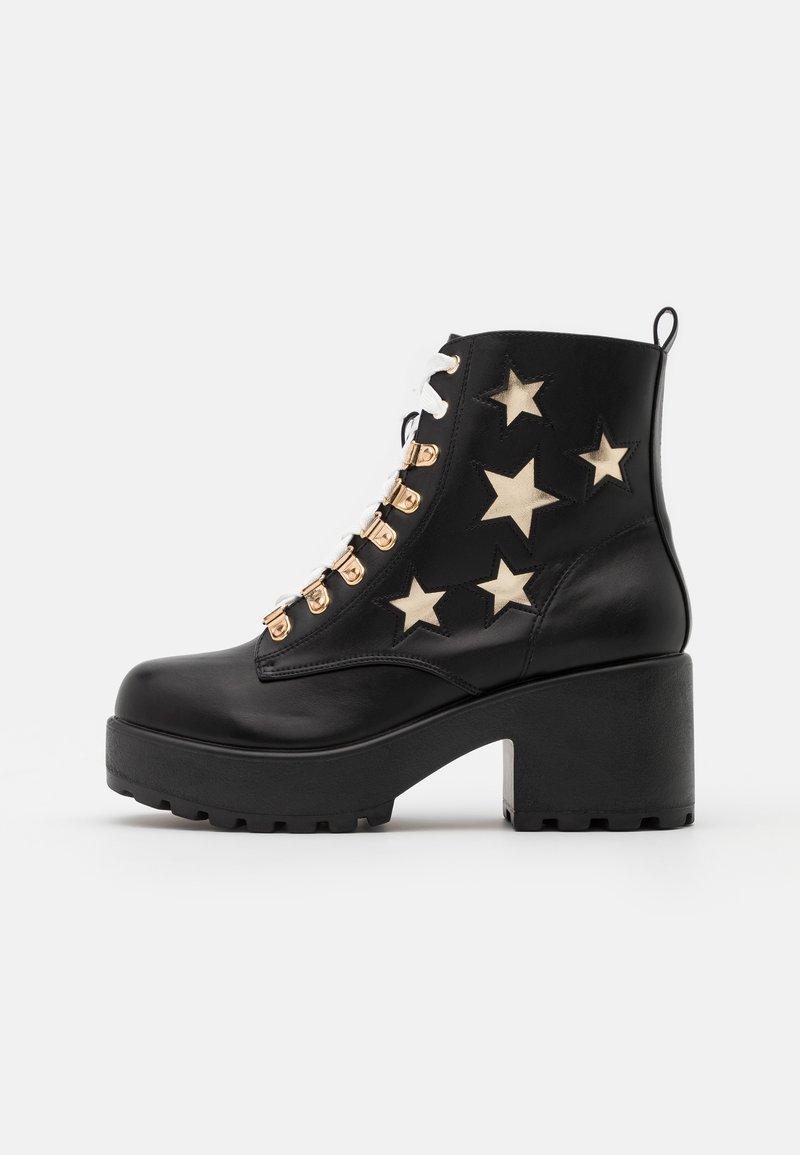 Koi Footwear - VEGAN - Kotníkové boty na platformě - black/gold