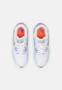 Nike Sportswear - AIR MAX 90 LTR SE 2 GS UNISEX - Sneakers laag - white/copa/dark purple/dust/light thistle - 3