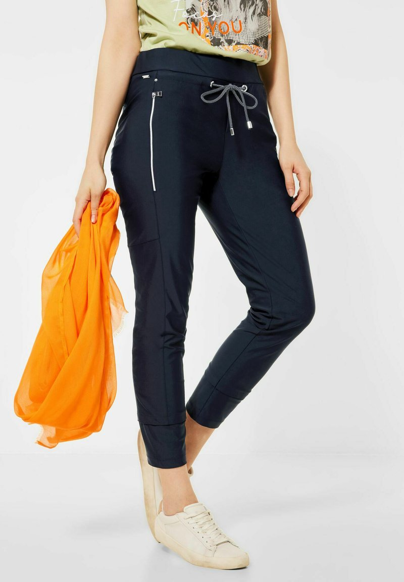 Street One - LOOSE FIT - Trousers - blau