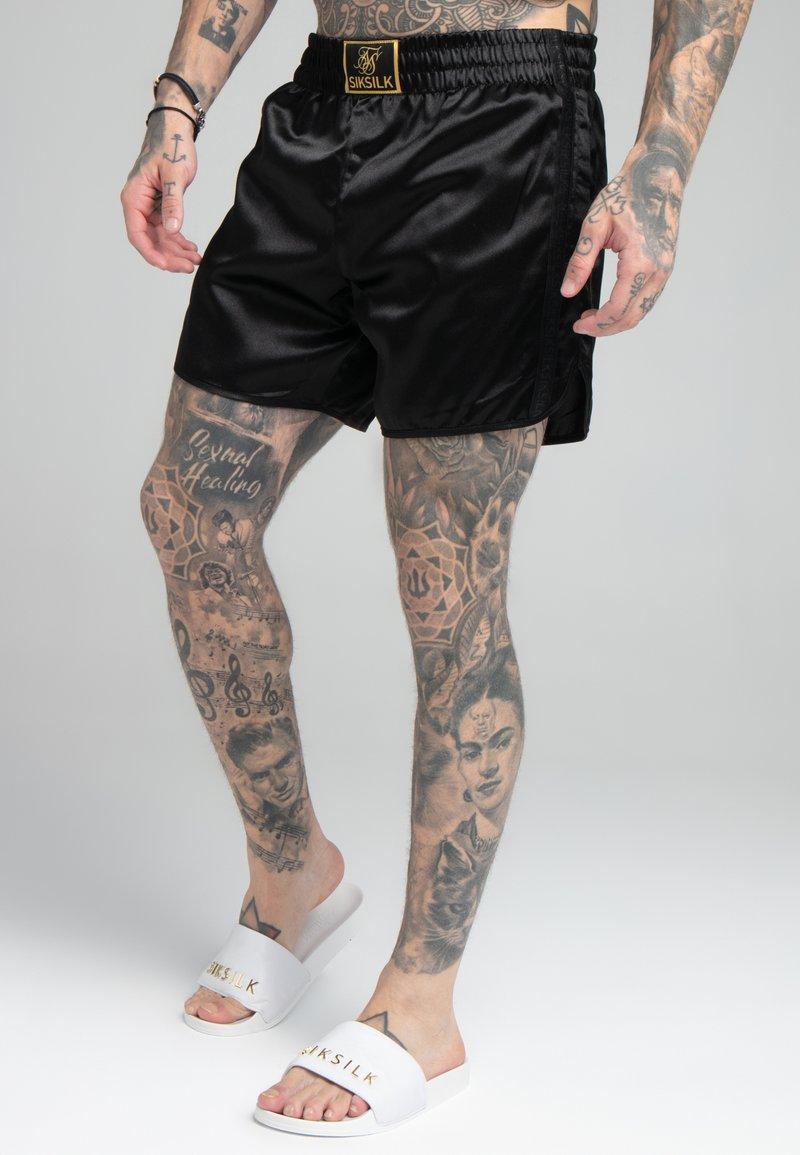 SIKSILK - MUAY TIE - Shorts - black