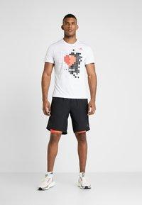 adidas Performance - OWN THE RUN TEE - Print T-shirt - white - 1