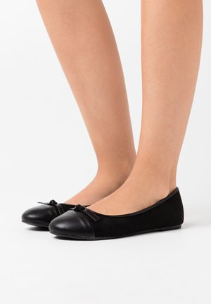 WIDE FIT TOE CAP - Baleríny - black