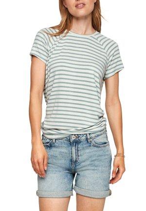 HAUT EN JERSEY - T-shirt con stampa - light green stripes