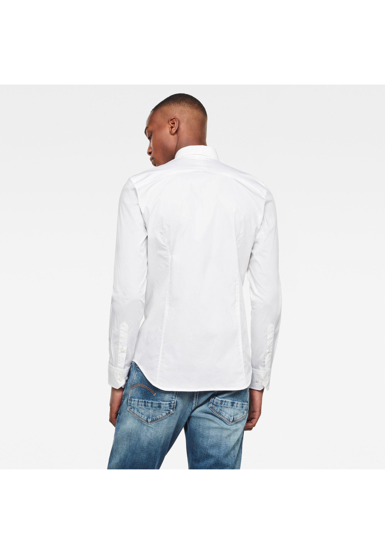 G Star DRESSED SUPER SLIM Skjorte white Zalando.no