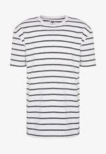 BASICSTRIPED TEE - T-shirt z nadrukiem - white