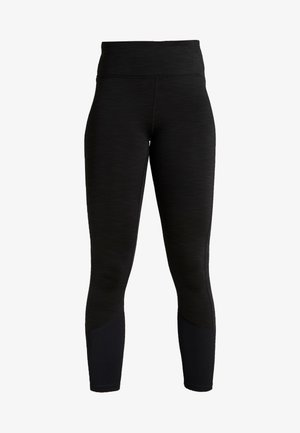 LINED - Leggings - black marle splice