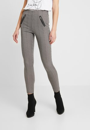 VMSALLY CHECK ZIP - Kalhoty - black